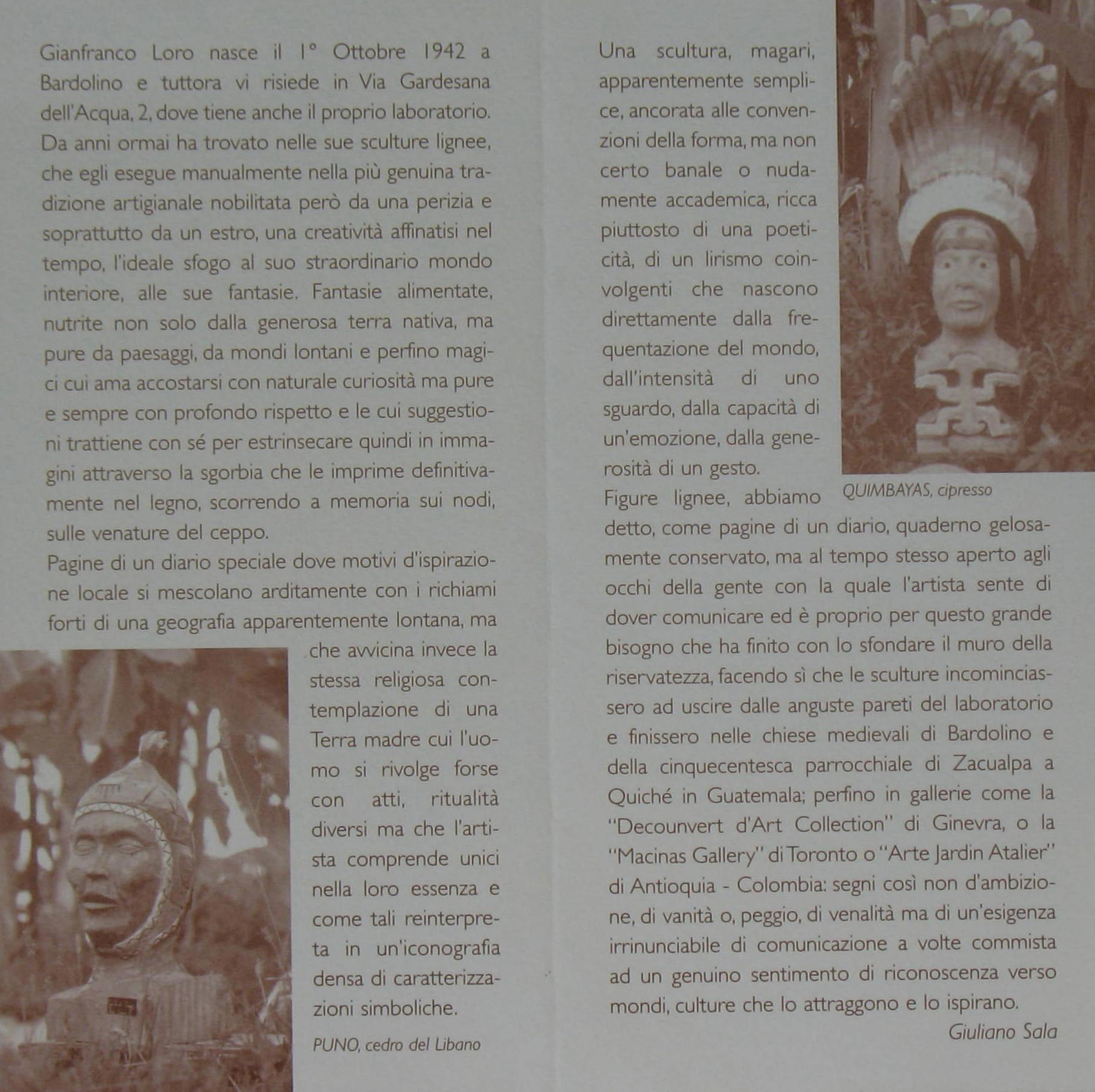 Gianfranco Joe Loro scultore