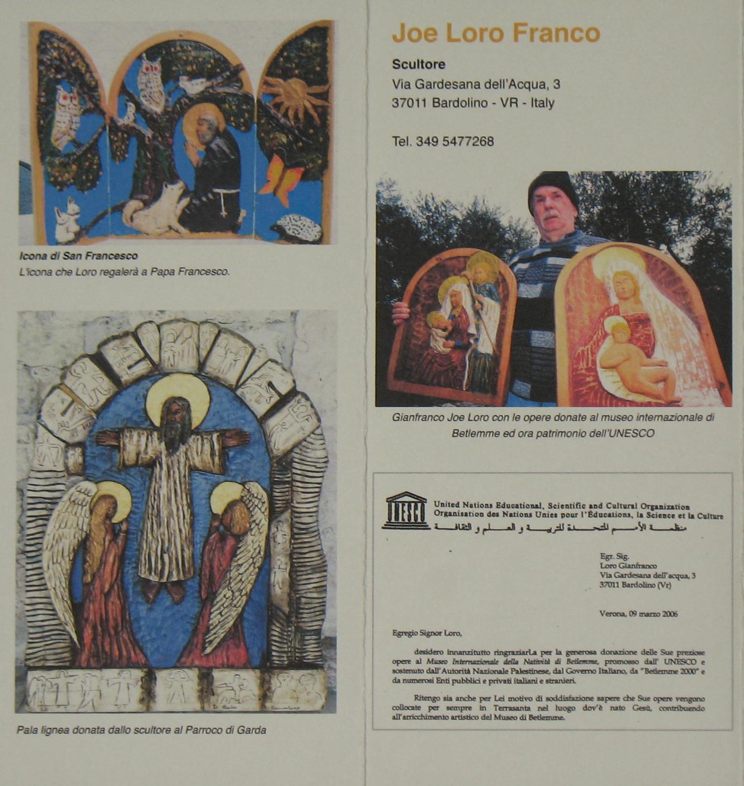 Joe Loro Franco. Scultore. 2